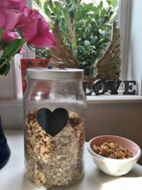 Gluten Free Granola with Ginger and Pumpkin seeds