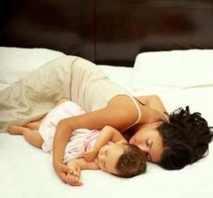 sleeping-mom